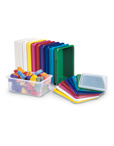 Colorful Cubby Trays and Lids