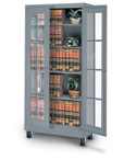 Window Pane Style Visual Storage Cabinets